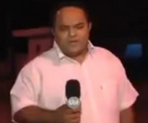 Este es el periodista que registró el episodio.