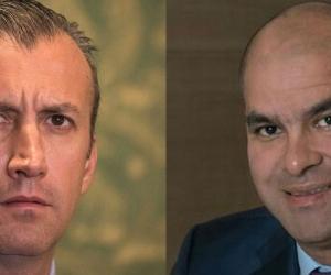 Izquierda Tarek El Aissami, derecha Samark López.