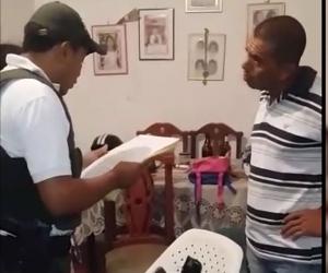 Procedimiento de captura de Alexander Ramírez Ariza, alias El Bembón.