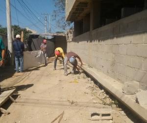 Las obras en el puesto de salud de La Paz comenzaron este viernes.