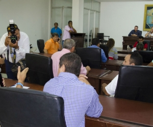 Aspecto de la sesión del Concejo de Santa Marta, la mañana de este miércoles.