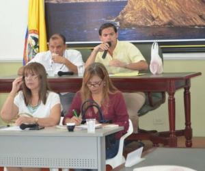 Diputado José Domingo Davila durante su intervención.