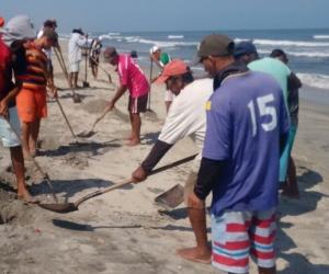 Apopesca se ha encargado de la recolección de los peces.