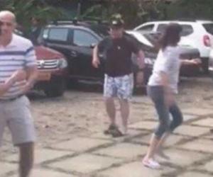 Imagen de la pelea entre Carlos Caicedo y Álvaro Cotes.