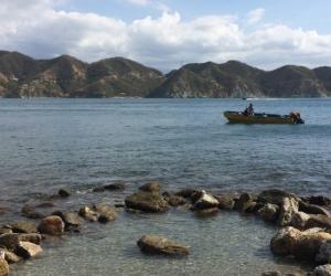 Playa Rosita, lugar donde sucedieron los hechos.