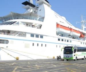 Crucero Star Pride durante su arribo a Santa Marta.