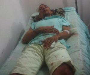 Humberto Payares Zúñiga, siendo atendido por el Área de Sanidad de la cárcel.