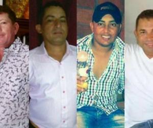 Francisco Zambrano Andrade, Juan Carlos López Andrade, Diego Armando Díaz Barreto, Jorge Luis Gil Badel.