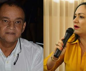 Diputado Álvaro Orozco (izq) y diputada Claudia Aarón (der).