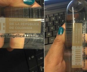 La botella en cuestión.