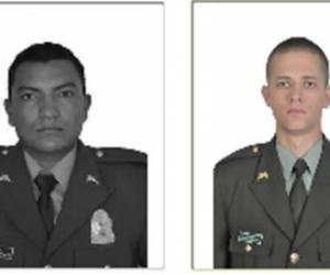 El patrullero Fabio Estrada falleció, mientras que José Trillos quedó herido.