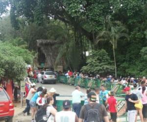 Entrada del Parque Tayrona.