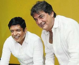 El rector Pablo Vera (izq) junto a Manuel Julián Dávila.