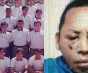 En la foto de la izquierda se puede observar a Julio Reyes en el mosaico oficial de la promoción.