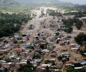 Panorámica del desastre natural en Mocoa, comparado con un 'Armero chiquito'.