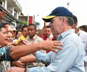 Presidente Santos en Mocoa.