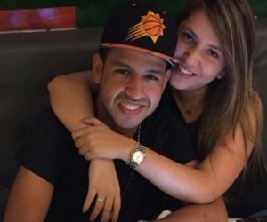 Dayana Jaimes junto a su esposo Martín Elías.