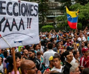 La oposición en Venezuela se levanta contra el gobierno de Nicolás Maduro.