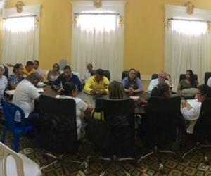 La reunión se llevó a cabo en la alcaldía de Ciénaga.