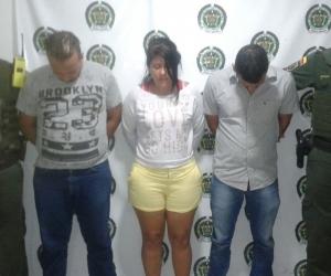 Estas fueron las tres personas capturadas por fleteo.