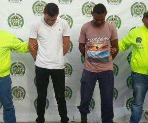 'El Mono' y 'Pedro' fueron puestos a disposición de las autoridades.