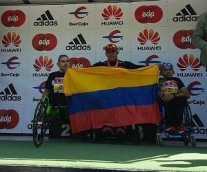 Francisco Sanclemente ganó el maratón de Madrid en sillas atléticas