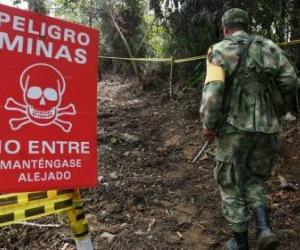 50 % de víctimas de minas antipersona se concentra en 25 municipios de Colombia.