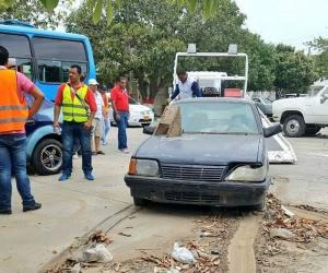 Hasta la fecha hay un reporte de 10 vehículos removidos y llevados hasta los patios.