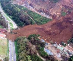La alerta por deslizamiento es alta en varios municipios de Colombia.