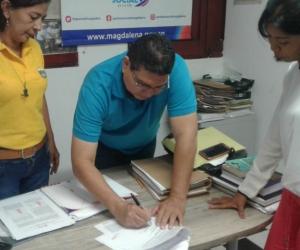 El convenio se suscribió por parte del responsable de la Agencia de Empleo y la  Corporación Mayor del Caribe,