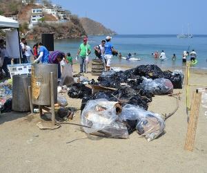 Los desechos fueron acumulados en una zona para luego darles el correcto manejo.