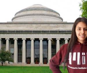 Carolina Ortega, joven colombiana becada.