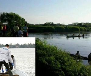 En este lugar del brazo de Mompox decidió lanzarse al agua el anciano oriundo de Antioquia. Criminalística realizó el levantamiento del cadáver.