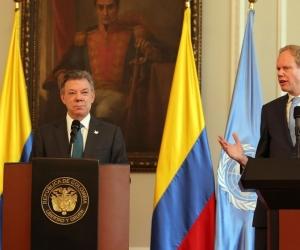 Los integrantes del consejo se reunieron con el presidente de Colombia, Juan Manuel Santos, con quien mostraron una gran afinidad a la hora de defender los avances que supone la paz para el país.