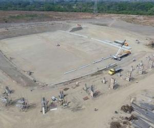 La cancha de fútbol es el escenario emblemático de los Juegos Bolivarianos.