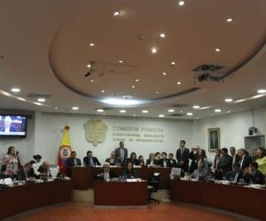 Comisión primera de la Cámara de Representantes.