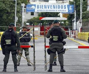 Aspecto de la frontera entre Colombia y Venezuela, en el estado Táchira.
