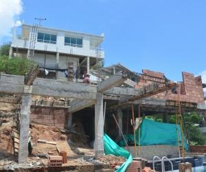 Así iba el avance de la obra que fue demolida por no contar con permisos.