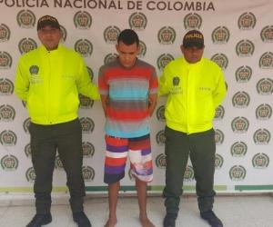 Jose Hernando Fenandez Cantillo, capturado por la Policía.