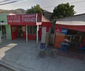 En este restaurante se produjo el atraco en el que falleció un ciudadano colombochino.