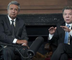 El presidente de Ecuador, Lenín Moreno, afirmó hoy su disposición para continuar el respaldo a los diálogos que desarrollan en ese país el Gobierno colombiano y el Eln.