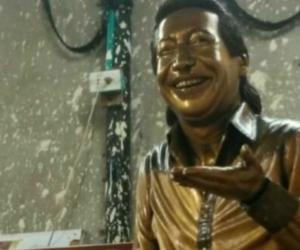 Estatua del 'Cacique de la Junta'.