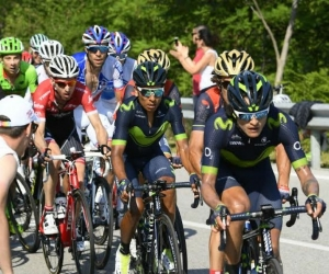 Nairo Quintana durante la etapa.