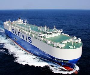 Hyndai Glovis, nave que arribará mensualmente al Puerto de Santa Marta.