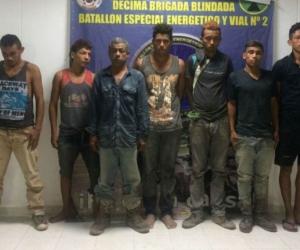 Los detenidos.