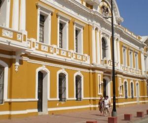 Fachada de la Alcaldía de Santa Marta.