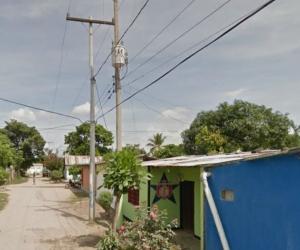 Calle del corregimiento de Tucurinca, Magdalena.
