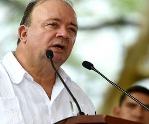 En la Quinta de San Pedro Alejandrino de Santa Marta, el ministro de Defensa, Luis Carlos Villegas, presidió la Audiencia pública de Rendición de Cuentas, en la que presentó los principales logros y retos del Sector Defensa.