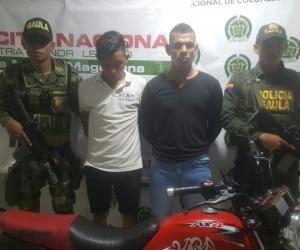 Los detenidos ya fueron puestos a disposición de la Fiscalía en Fundación por el delito de extorsión clásica en flagrancia.