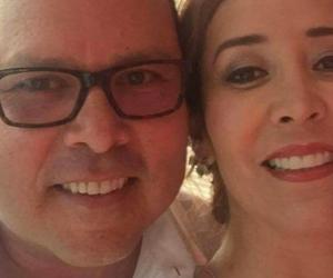 La fiscal, Hilda Yaneth Niño, junto a su esposo Gustavo Adolfo Calero Vargas.